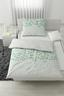 Povlečení Sandy -ext- - bílá/zelená, Moderní, textilie (140/200/cm) - Premium Living