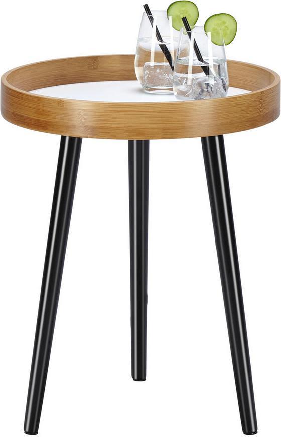 Odkladací Stolík Dana - hnedá/čierna, Moderný, drevo (40/50cm) - MÖMAX modern living