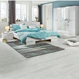 Ložnice Anna 180 - bílá, dřevo/dřevěný materiál (225/210/58cm)