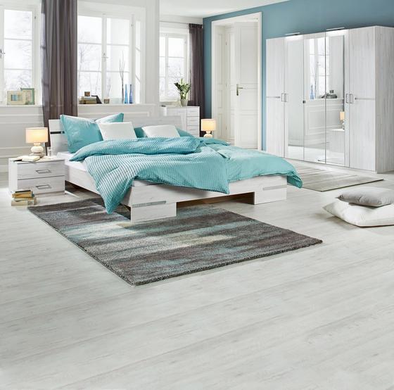 Spálňa Anna 180 - biela, drevený materiál/drevo (225/210/58cm)