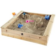 Sandkasten Plum mit Sitzbänken - Ahornfarben, MODERN, Holz (113/113/23cm)