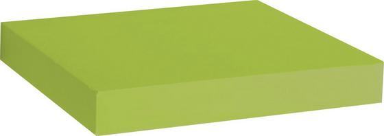 Falipolc Simple - Zöld, modern, Faalapú anyag/Műanyag (23,5/3,8/23,5cm)