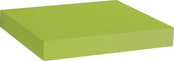 Nástenná Polica Simple - zelená, Moderný, umelá hmota/drevený materiál (23,5/3,8/23,5cm)