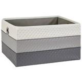 Korbset Debby - Weiß/Grau, Basics, Textil (36/26/20cm) - Ombra