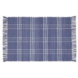 Handwebteppich Flora 60x90 cm - Blau, Textil (60/90cm) - Ombra