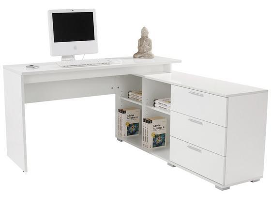 Weißer Schreibtisch Mit Anbau