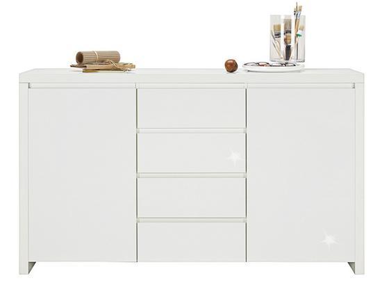 Komoda Sideboard Lario - biela, Moderný, kompozitné drevo (164/96,4/40cm)