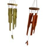 Windspiel H:72 cm - Braun/Naturfarben, MODERN, Holz