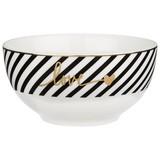 Miska Na Müsli Gloria - bílá/černá, Moderní, keramika (14/7cm) - Mömax modern living