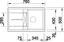 Spüle Blanco Metra 45s Silgranit - Anthrazit, KONVENTIONELL, Stein (78/19/50cm) - Blanco