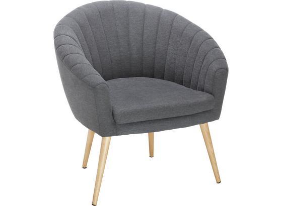 Křeslo Bea - tmavě šedá, Moderní, textil (75/77/45/66cm)