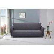 Schlafsofa Modena B: ca. 207 cm Grau - Edelstahlfarben/Grau, MODERN, Holz/Textil (207/84/93cm) - Luca Bessoni