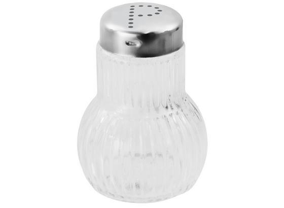 Pfefferstreuer Fackelmann - Silberfarben, KONVENTIONELL, Glas/Metall (7cm) - Fackelmann