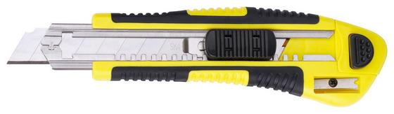 Cuttermesser inkl. 5 Klingen - Gelb/Schwarz, KONVENTIONELL, Kunststoff/Metall (17cm)