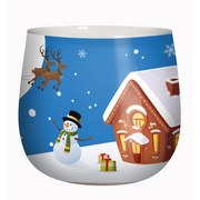 Kerze Im Glas Noel - Multicolor, Basics, Glas (7,9/7,2cm)