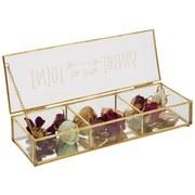 Box Dekorační Adriana - čiré/barvy zlata, kov/sklo (30/10/5cm) - Modern Living
