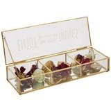 Dekoračná Krabica Adriana - zlatá/číre, kov/sklo (30/10/5cm) - Modern Living