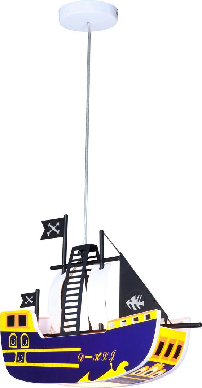 Hängeleuchte Kita Piratenschiff - Multicolor, KONVENTIONELL, Kunststoff (43/11,5/80cm)