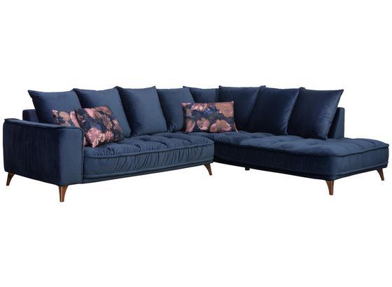 Sedacia Súprava Belavio - tmavomodrá, Moderný, textil (288/245cm)