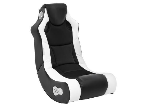 Gamingstuhl Booster B: 56 cm Weiß/Schwarz - Schwarz/Weiß, Design, Textil (56/100/82cm) - Livetastic