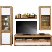 Wohnprogramm Kashmir New 4 - Eichefarben/Weiß, MODERN, Holzwerkstoff (242/192/49cm) - JAMES WOOD