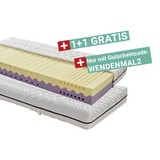 Wendematratze Two-in-one H2/ H3 90x200 - Weiß, MODERN, Textil (90/200cm) - Primatex