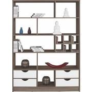 Raumteiler Meggy - Dunkelbraun/Weiß, MODERN, Holz (140/184/32cm)