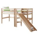 Spielbett Eliyas 90x200 cm Buche Massiv - Naturfarben/Weiß, Design, Holz/Textil (90/200cm) - MID.YOU