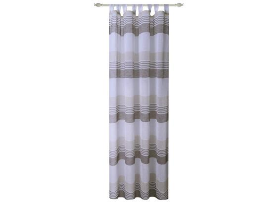 Kombivorhang Luzia - Braun, MODERN, Textil (140/255cm) - Luca Bessoni
