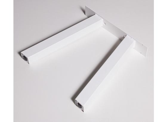 Bankgestell Bankgestell B: 40 cm - Weiß, Basics, Metall (40/42cm)