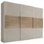 Schwebetürenschrank Includo 280cm Sand/puccini - Sandfarben/Eichefarben, MODERN, Holzwerkstoff (280/222/68cm)