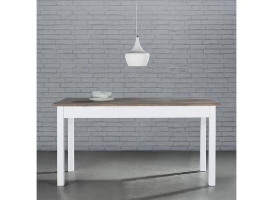 Jídelní Stůl Cookie - bílá/barvy borovice, dřevo (160/80/80cm) - Premium Living