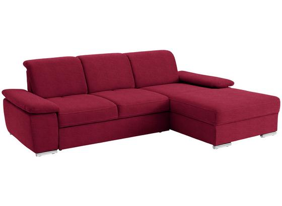 Wohnlandschaft in L-Form Leandro 283x184 cm - Chromfarben/Rot, MODERN, Textil (283/184cm)