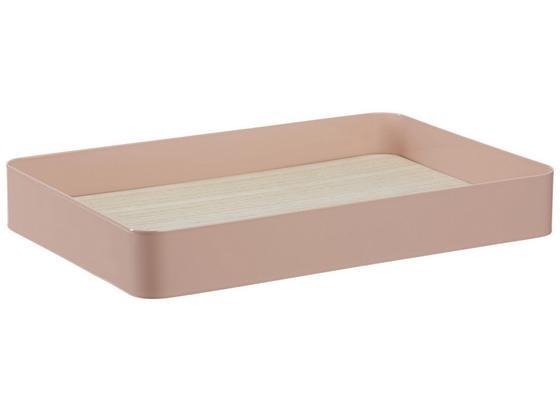 Podnos Dekorační Liam - přírodní barvy/světle růžová, kov/dřevo (33,5/4,5/22,5cm) - Mömax modern living