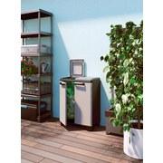 Müllsackständer Split Premium - Hellgrau/Schwarz, KONVENTIONELL, Kunststoff (68/92/39cm)