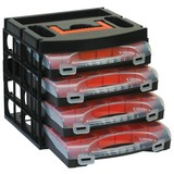 Sortimentskasten Organizer-Set - Schwarz/Orange, Kunststoff (32,2/27,9/29,7cm)