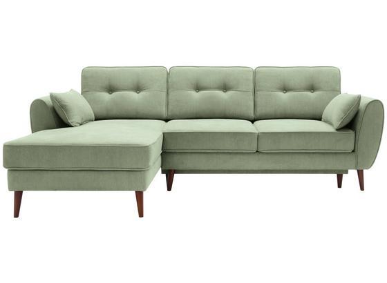 Sedací Souprava Candy L - zelená, Moderní, dřevo/textil (165/254cm)