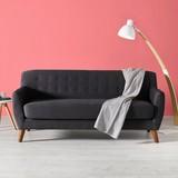 Pohovka Xavier - tmavě šedá, dřevo/textil (176/81/76cm) - Mömax modern living