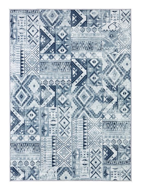 Všívaný Koberec Kashi 2 - šedá/modrá, textil (160/230cm) - Mömax modern living