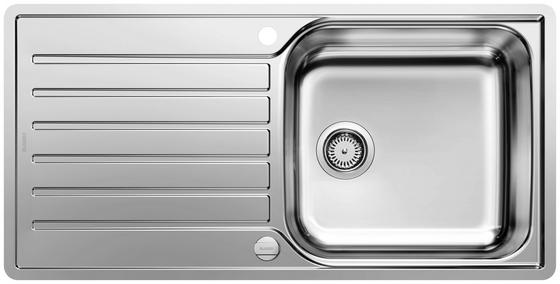 Spüle Blanco Lantos XL 6 S-if - Edelstahlfarben, KONVENTIONELL, Metall (100/16/50cm) - Blanco