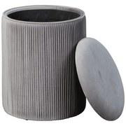 Hocker Salim Grau B: 35 cm - Grau, Basics, Holzwerkstoff/Textil (35/44cm) - MID.YOU