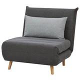 Pohovka S Rozkladom Simon - prírodné farby/sivá, Moderný, drevo/textil (77cm) - Ombra