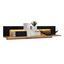 Winkelboard Nyon - Eichefarben/Schwarz, MODERN, Holzwerkstoff (110/23/19,6cm)