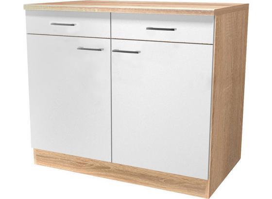 Spodná Kuchynská Skrinka Samoa  Us 100 - farby dubu/biela, Konvenčný, kompozitné drevo (100/85/57cm)