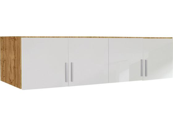 Nástavec Na Skříň K 4-dveřové Skříni, Dub Wotan - bílá/barvy dubu, Moderní, dřevo (181/40/54cm)
