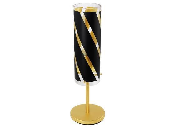 Tischleuchte Pinto Nero 1 - Goldfarben/Schwarz, MODERN, Glas/Metall (11/50,5cm)