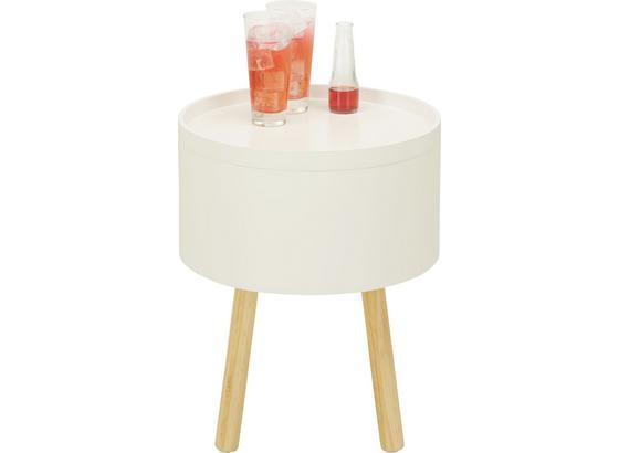 Odkládací Stolek Alena - bílá/barvy dubu, Moderní, dřevo/kompozitní dřevo (38/45/38cm) - Mömax modern living