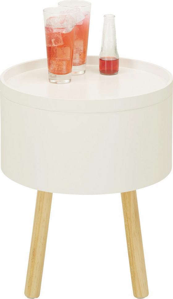 Odkládací Stolek Alena - bílá/hnědá, Moderní, dřevo/kompozitní dřevo (38/45/38cm) - Mömax modern living