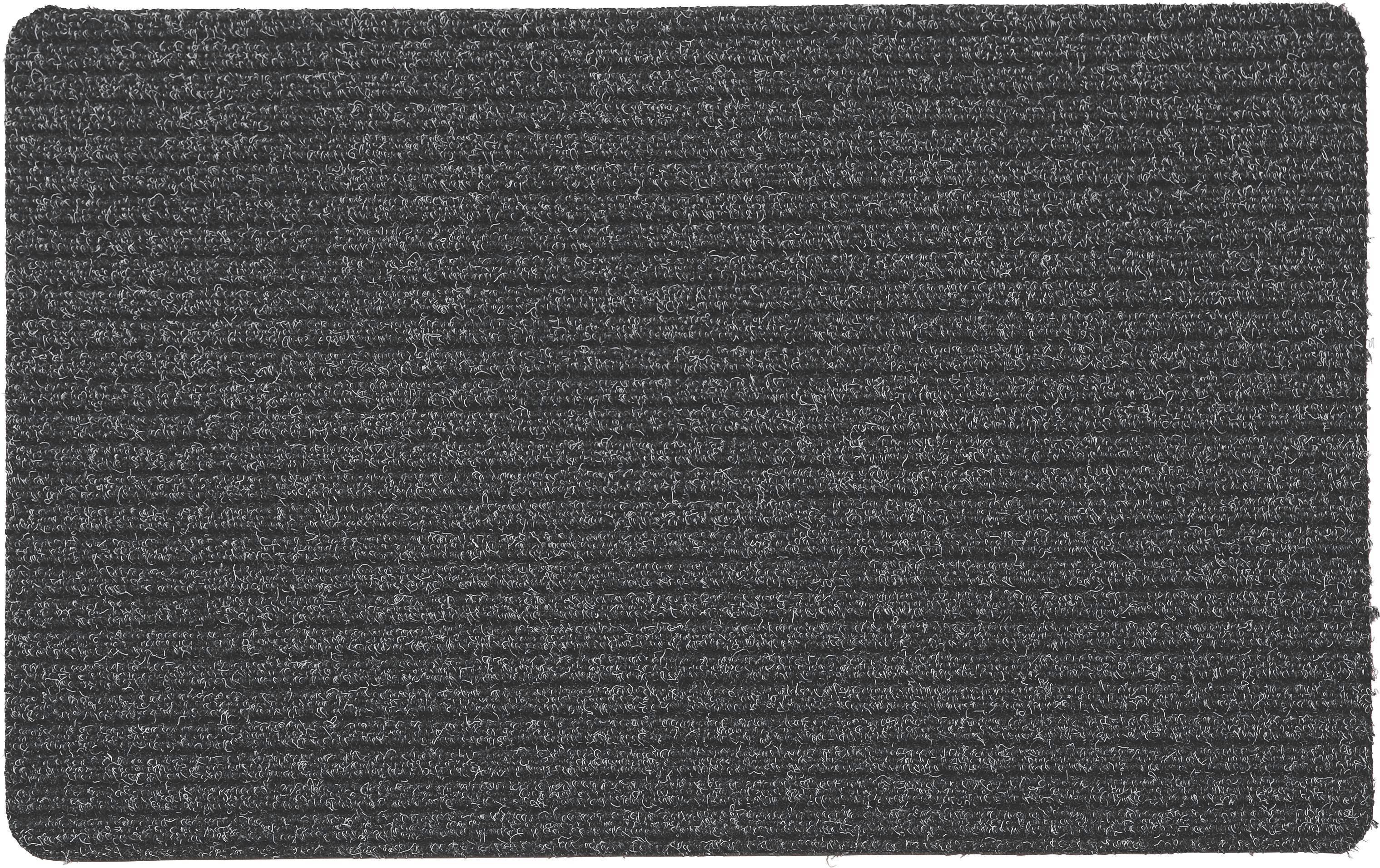 Lábtörlő Troika - antracit, konvencionális, textil (40/60cm)