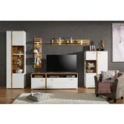 Nástěnný Panel In Eichefarben - barvy dubu, Moderní, dřevěný materiál (38/110/20cm) - MODERN LIVING